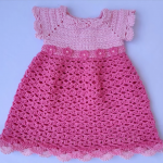 Crochet Amazing Dress For A Baby Girl