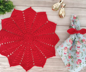 Crochet A Festive Doily Video Tutorial