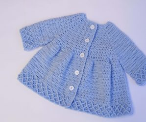 Crochet Super Beautiful Coat For Girls