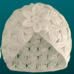 Crochet 2 Layered Hat With Flower