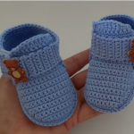 Crochet Ankle Boots For Baby