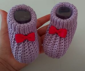 Crochet Fast And Simple Baby Shoes