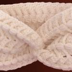 Crochet Headband With Braided Medallions