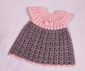 Crochet Lovely Dress For Baby Girl