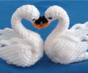 Crochet Decorative Swan
