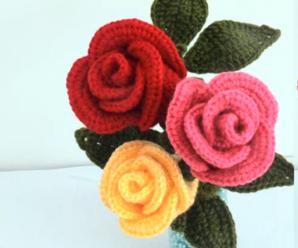 Crochet Easy Rose Flower For Beginners