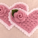 How To Crochet Lovely Heart With Flower