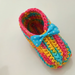 Crochet Simple Baby Shoes