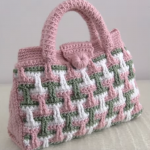 Crochet 3 D Bag In 3 Colors