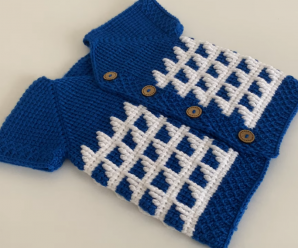 Crochet A Newborn Baby Vest In Two Colors
