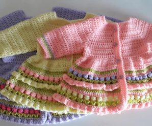 Crochet Cardigan For A Baby Girl