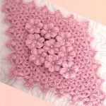 Crochet Ornament With Flowers