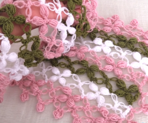 Crochet A Scarf With Flower Stitch