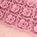 Crochet Simple Scarf With 3 D Flowers