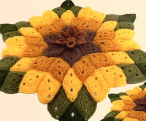 Crochet A Big Sunflower