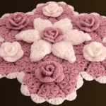 Crochet A Big Doily With Flowers