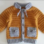 Crochet Lovely Jacket With Pockets For Baby