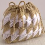 Crochet Diamond Curtain Purse Bag