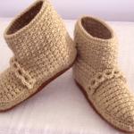 Crochet Lovely Slippers For Adults