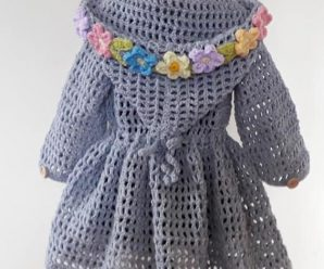 Crochet Spring/Summer Hoodie For Girls