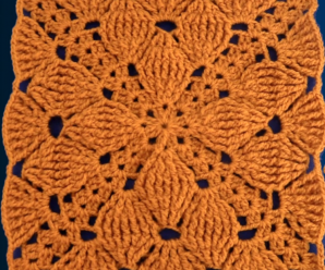Crochet Granny Square With Leaves