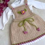 Crochet Easy Baby Dress With Flower