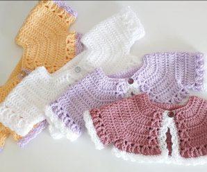 Crochet Lovely Bolero For Baby Girl
