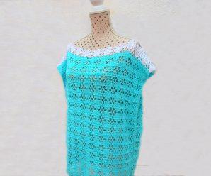 Crochet Tunic With Geometric Stitch