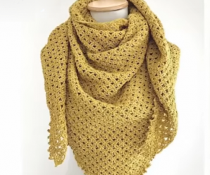 Crochet Super Easy V Stitch Shawl