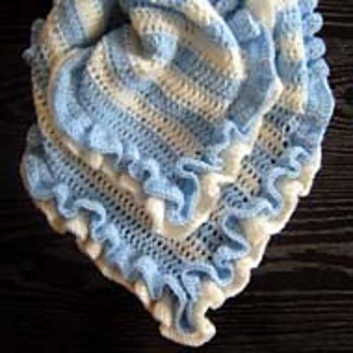 Double Ruffle Baby Blanket