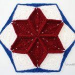 Quilt Inspired Star Hexagon Afghan Block
