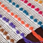 Crochet Pompom Square