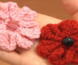 How To Knit Simple Flower With 7 Petals