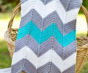 How To Knit Chevron Blanket