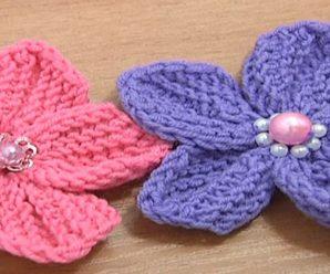Knit Beautiful 5 Petal Flower