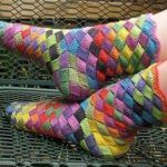 Knit Rainbow Socks