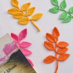 Crochet Leaf Applique