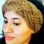 Crochet Braided Diadema