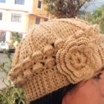 Crochet Beret 3D Hat
