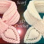 Crochet 3D scarf