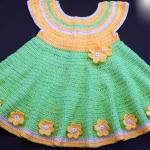 Crochet Baby Dress 6-12 Months