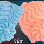 Zigzag Stitch Hat With Flower