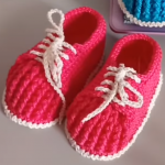 Crochet Baby Shoes From 4 to 6 Months