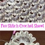 Fan Stitch Crochet Shawl