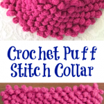 Crochet Puff Stitch Collar