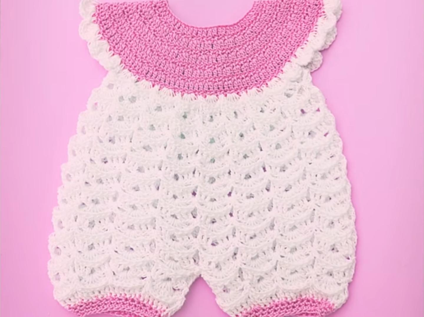 Crochet Very Easy Baby Romper - Crochet Ideas