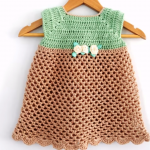 Crochet Baby Dress In All Sizes