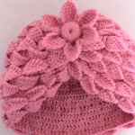 Crochet Hat With Leaf Braids