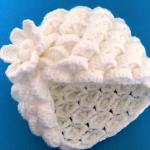 Crochet Marshmallow Stitch 3 D Hat