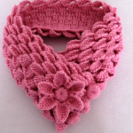 Crochet Scarf With Leaf Braids